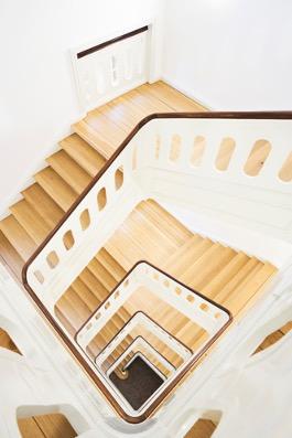 trappeopgang på kollegie i kbh